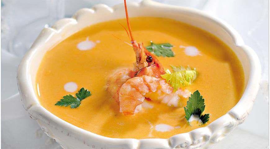 Начинаем приготовление Супа из раков со сливками